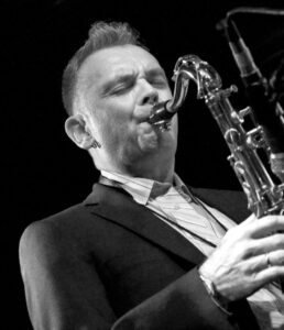 Saxophonist Sam Burckhardt